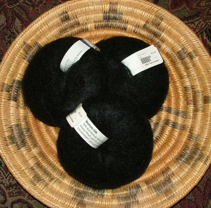 Kid Mohair Silk 25g Approximately 230 yds Lace Weight Black Crochet Knit by 3CsTwistedStitchers on Etsy