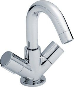 basin faucet with swivel spout & push button waste (chrome). - kbbusa.com #faucet
