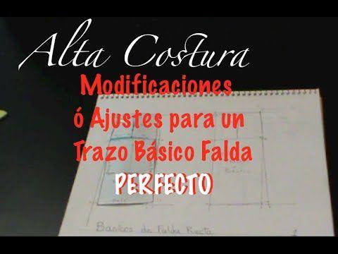 Alta Costura Clase 17, Modificaciones Ajustes Trazo Básico Falda Perfecto - YouTube