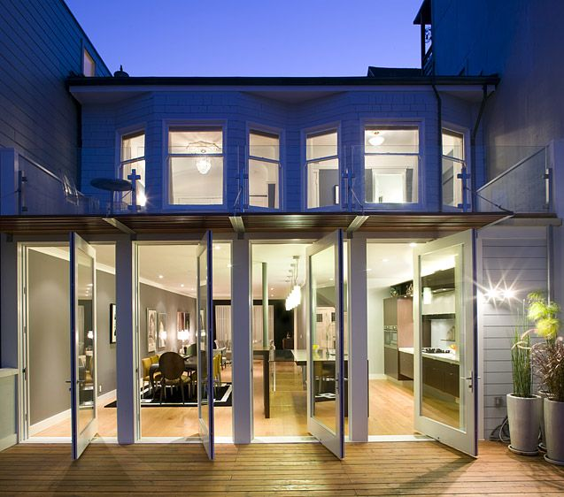 four pivot doors in a row modern exteriorexterior designexterior french
