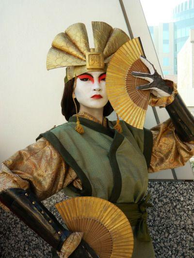 Awesome cosplay of Avatar Kyoshi (sweetjegus on tumblr)