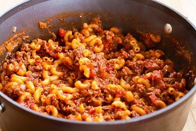 Kalyn's Kitchen®: Better-than-Mom's Stovetop Goulash with Macaroni, Tomatoes, and Ground Beef