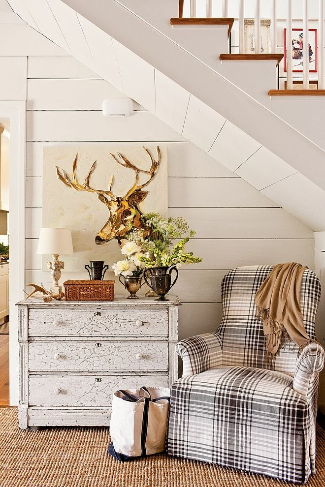Farmhouse Renovation by Historical Concepts- I love the chair, painting, and chest of drawers