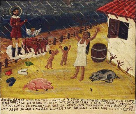 В 1963 и 1964 гг. стояла страшная засуха. Земля начала трескаться, и мои животные стали гибнуть. Благодарю Святого Исидора Труженика, так как после долгих просьб и молитв 28 июля наконец прошла сильная гроза. И после еще несколько дней шли дожди.