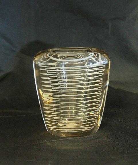 Vase. K2013. Willy Johansson. 1952. Signert.: WJ 53 Hadeland.. FINN.no - Mulighetenes marked