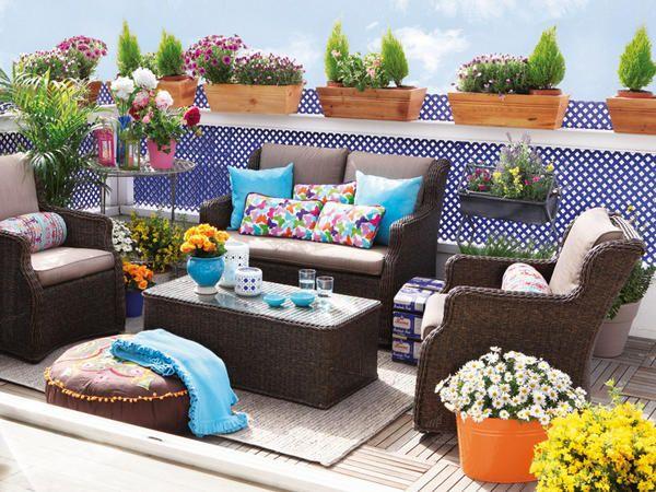 Terrazas acogedoras - En estilos diferentes - Muebles terraza - Decoracion interiores - Interiores, Ambientes, Baños, Cocinas, Dormitorios y habitaciones - CASADIEZ.ES