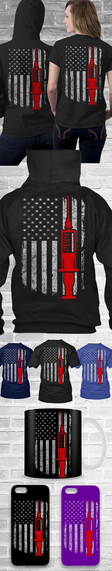 Nurse USA Flag Shirts! Click The Image To Buy It Now or Tag Someone You Want To Buy This For.  #nurse