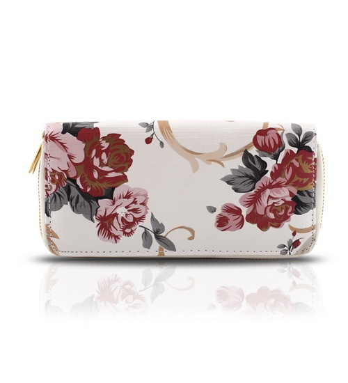 GOTG White Purse with Flowers on glamouronthego.co.uk