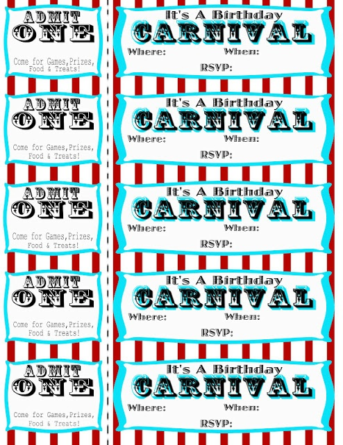17 Best images about Carnival/Circus Birthday Party & Free ...