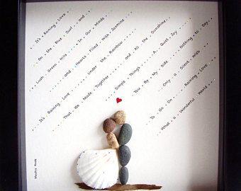 MATRIMONIO unico regalo personalizzato nozze regalo-ghiaia arte-unico impegno regalo di nozze arte-coppie regalo-amore regalo-sposa e sposo regalo