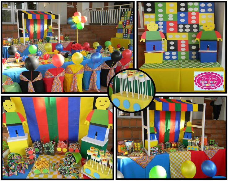 Lego themed kiddies party with Candy Buffet