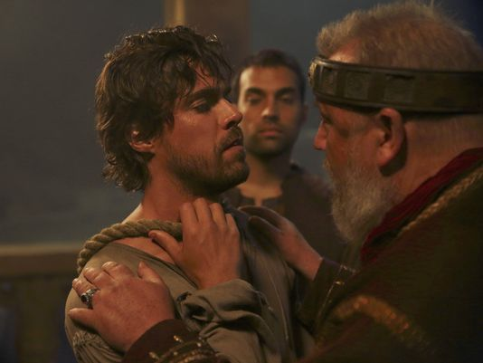 """March 18, 2016 - ABC Has Cancelled the TV Series """"Of Kings and Prophets"""" a modern phenomenon stating that the biblical saga has LOW TV Ratings after just two episodes. Beyond the Tank, the Shark Tank companion series will take over Kings' time slot starting Tuesday at 10pm ET/PT. The series March 8th premiere drew a weak 3.3 million viewers, and it dropped to 2.4 million in its second outing this week."""