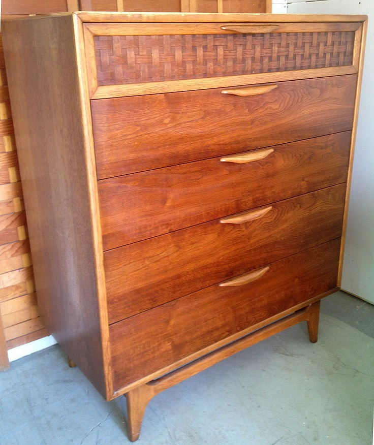 Vintage LANE Furniture PERCEPTION Warren Church Walnut Mid Century Modern  Chest. $489.00, Via