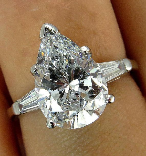 GIA 3.44ct Estate Vintage Solitaire PEAR Shaped by TreasurlybyDima