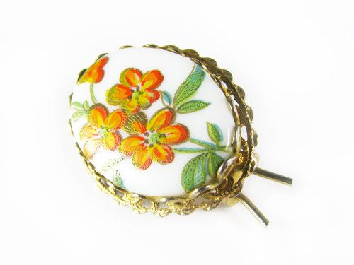 Vintage Hair Clip with Flowers Bridal Wedding  by MyChouchou, $9.50