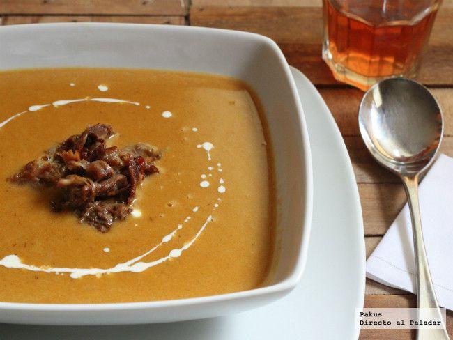 Sopa de rabo de buey. Receta con fotos paso a paso de elaboración y presentación. Trucos y consejos para cocinar oxtail soup. Receta de sopas y c...
