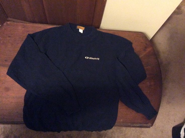 Dark Blue Trade Sweater Made in the US.  SIMPLICITY tractors by HickoryAcres on Etsy