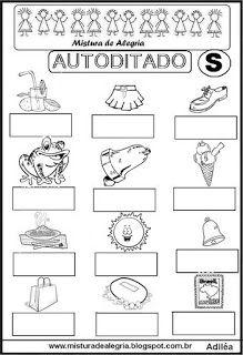 Autoditado para alfabetização com a letra S