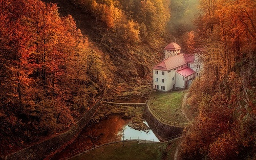 cozyLakes House, Nature, Autumn Leaves, Autumn Scenery, Beautiful, Fall Looks, Architecture, Places, Autumn Colors