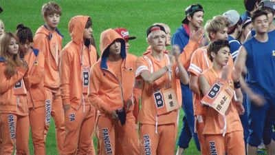 Exo's priceless line of reactions to a confetti canon. First Xiumin flails and Kris judges, Sehun stays pokerfaced, and Kai throws a complete tantrum hehe Baekhyun and Luhan go off in their own little world and Tao is completely disgusted. Fantastic. #exo #classic #reaction #gif #hd #idol #olympics