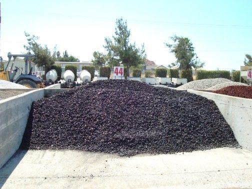 black landscape rocks lava