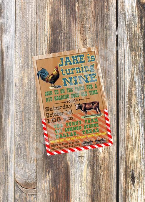Kids Birthday Invitation / Barnyard / Farm Party / by RoostPaperie, $13.00