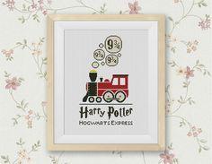 Hogwarts Express Cross Stitch Pattern, Platform 9 3/4 Cross Stitch Chart, Harry Potter, Locomotive Movie Chidren PDF, BUY2 GET1 FREE! #016-4 by StitchLine on Etsy