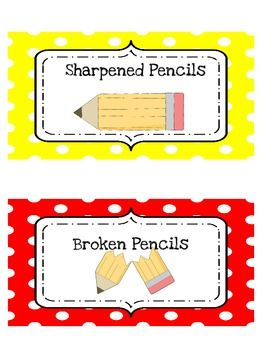 Sharpened/Broken Pencil Can Labels