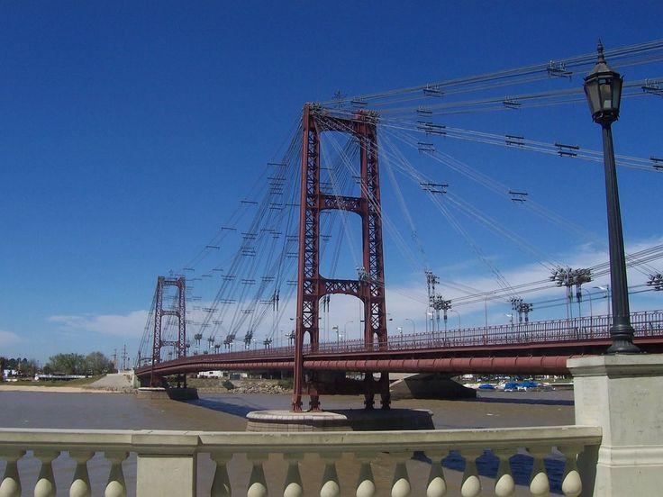 Puente colgante de la ciudad de Santa Fe, Argentina