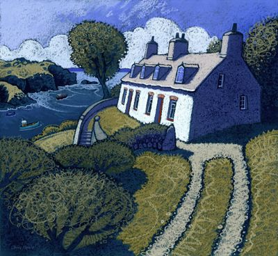 SOLFACH by Chris Neale  Look at how the sunlight is depicted on the cottage face....