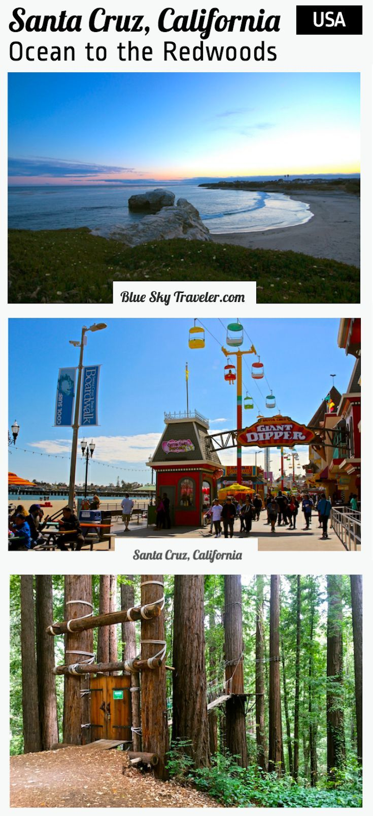 "Santa Cruz might be the ""best kept secret"" on your Northern California Route 1 trip or weekend getaway. -->> blueskytraveler.com"