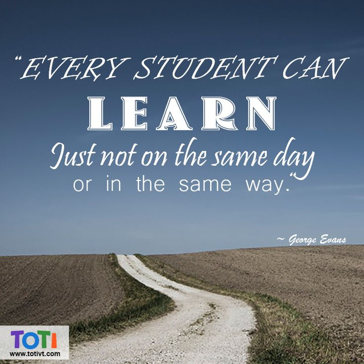Every Student Can Learn, Just Not On The Same Day, Or In ...