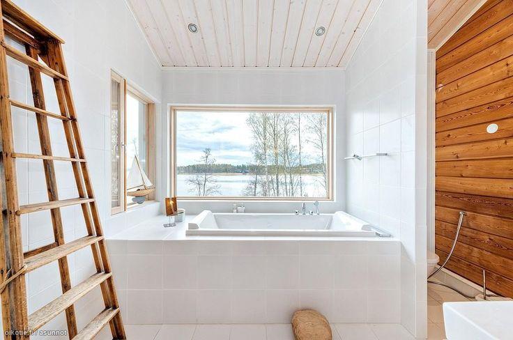 Myytävät asunnot, Kotilahdentie 29, Siuntio #oikotieasunnot #kylpyhuone