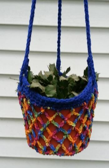 Pattern: Plant Holder | Retro pattern, Crochet and Plants