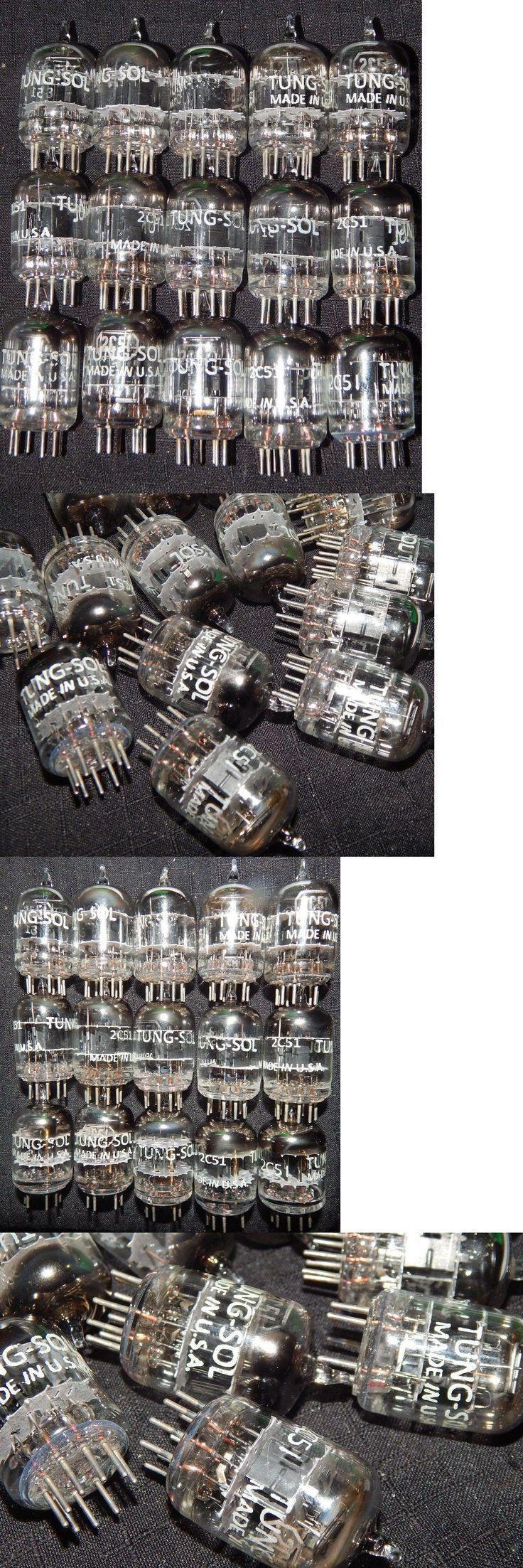 Vintage Tubes and Tube Sockets: 15 Pieces Nos Tungsol 2C51 / 396A Black Plates [] Getter = Western Electric 5670 BUY IT NOW ONLY: $230.99