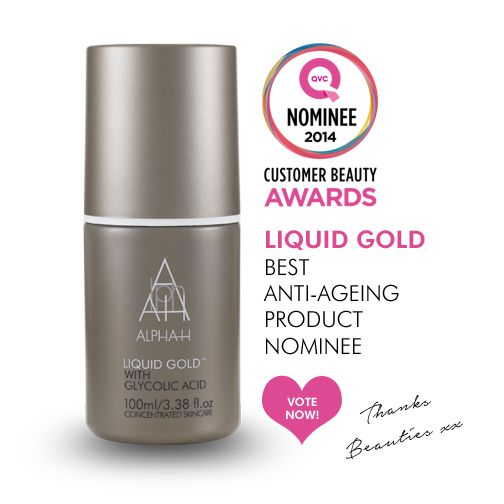 "Alpha-H Liquid Gold has been nominated in the QVC Customer Beauty Awards 2014 in the category of best ""Anti Ageing Product'. Show us your love by voting now! http://www.qvcuk.com/CBA2014.content.html?cm_re=ESPOT-_-eSpotBeauty-5-_-Promo_Customer+beauty+awards_Customer+Beauty+Awards+logo   xx #liquidgold #alphah #skincare #award #antiageing #favourite #qvc #beauty"
