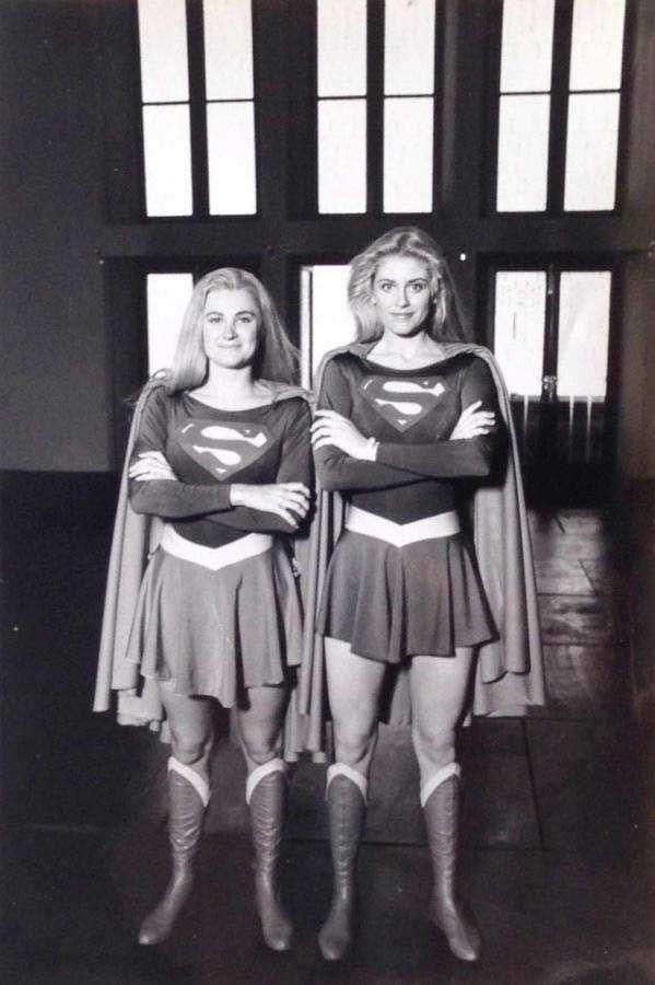 Helen Slater & her stunt double!