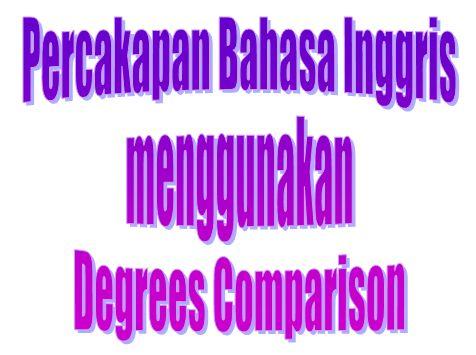 Kumpulan Percakapan Bahasa Inggris menggunakan Degrees Comparison beserta Artinya - https://www.bahasainggrisoke.com/kumpulan-percakapan-bahasa-inggris-menggunakan-degrees-comparison-beserta-artinya/