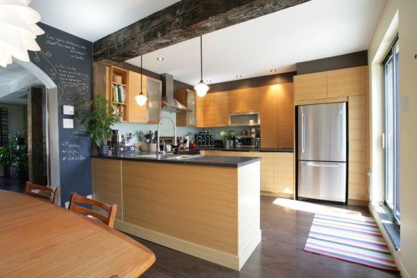 inspiration cuisine armoire erable | Rénovation cuisine armoire érable | Sweet home | Pinterest