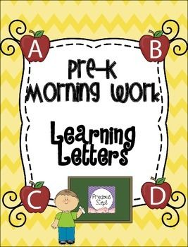 Learning Letters Morning Work for Pre-K {by Precious Steps Preschool}