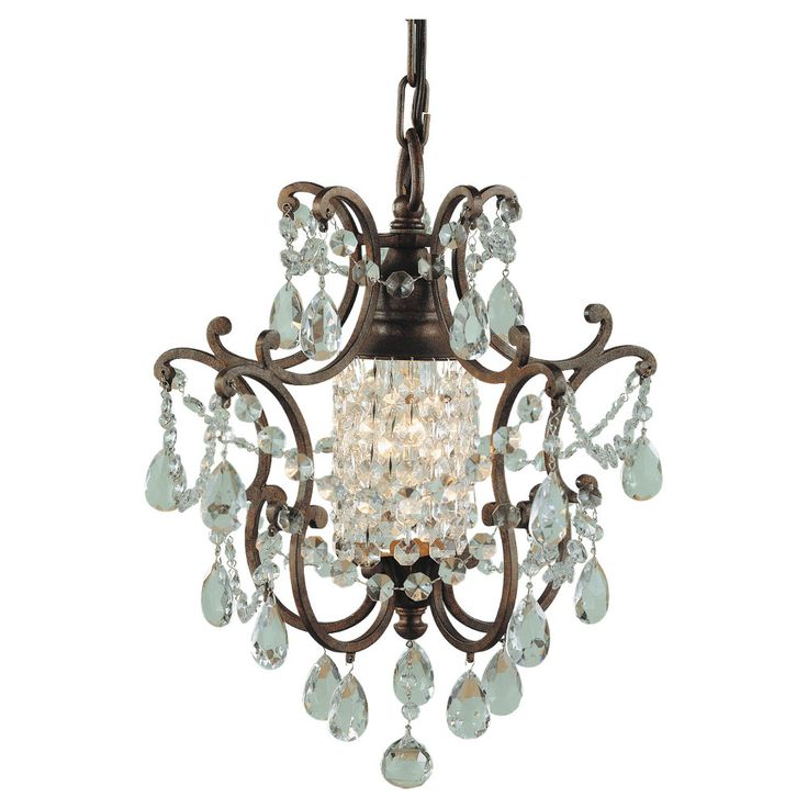 Bring an effective touch to your hall by installing this feiss maison de ville british bronze mini chandelier