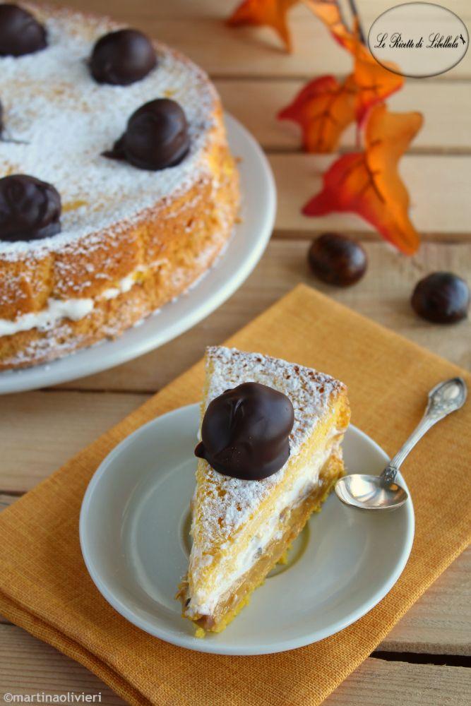 #Torta alla #crema di #castagne #ricetta #foodporn #gialloblogs