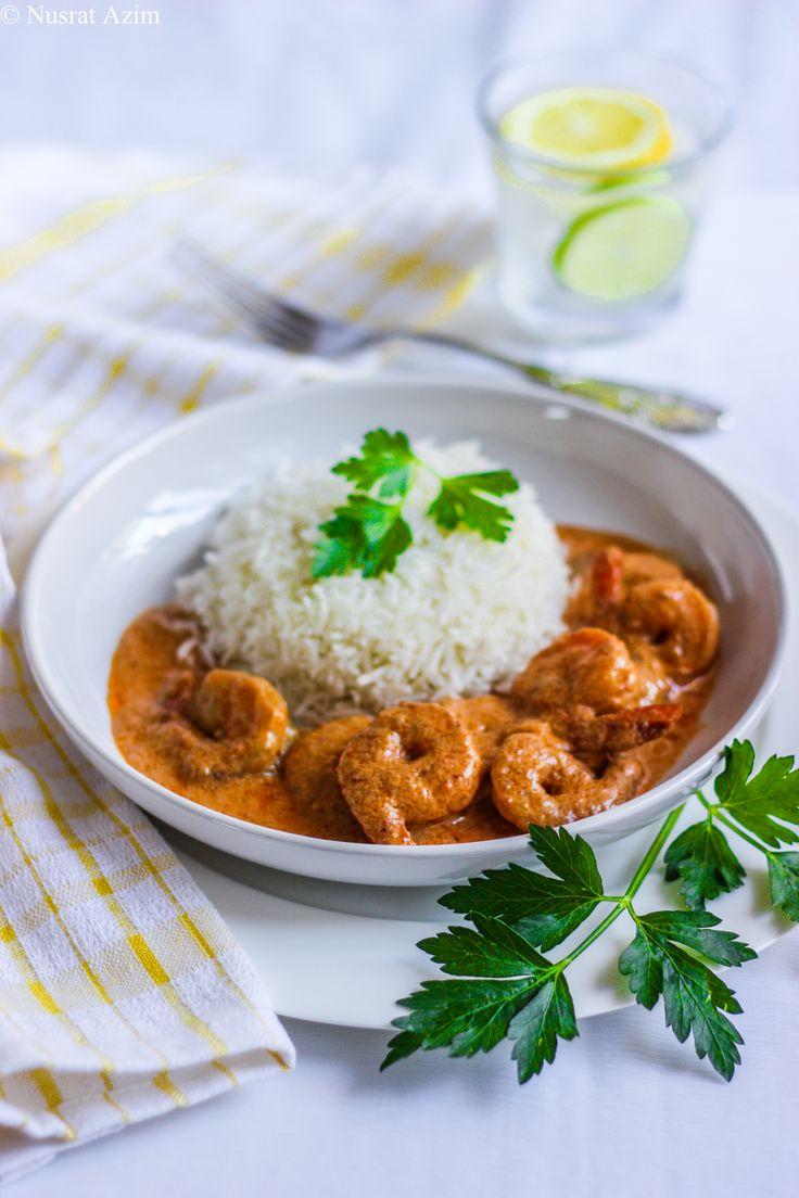 Shrimp mlaikari. Recipe: http://myselfnusrat.wordpress.com/2013/05/22/shrimp-malaikari-shrimp-in-creamy-coconut-gravy/