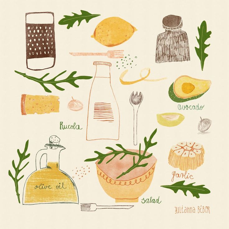 Julianna Bíbor  illustration  Making a delicious salad in the spring is always a good idea. Bon appétit!