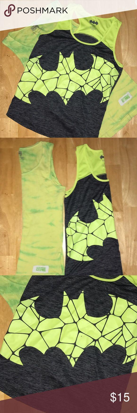 BOGO Batman ladies workout top and tie dye tank BOGO dri-fit ladies black and neon green workout top and tie dye green tank Tops Tank Tops