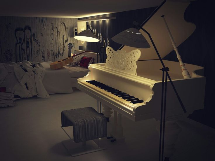 Musicians room 3d visualization by 3dsmax 2014 , Vray Adv. 3 & Photoshop 6
