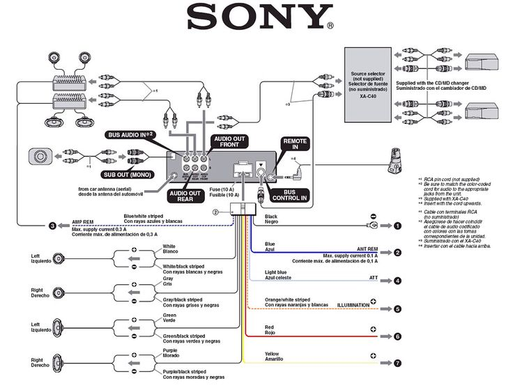 sony car stereo schematics misc pinterest cars and sony xplod wiring diagram