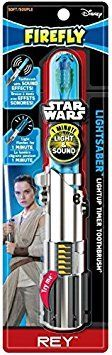 #care #Firefly Star Wars Rey Lightsaber Toothbrush. Know the power of the Force with the Firefly Star Wars Rey Lightsaber flashing and talking toothbrush! The li...