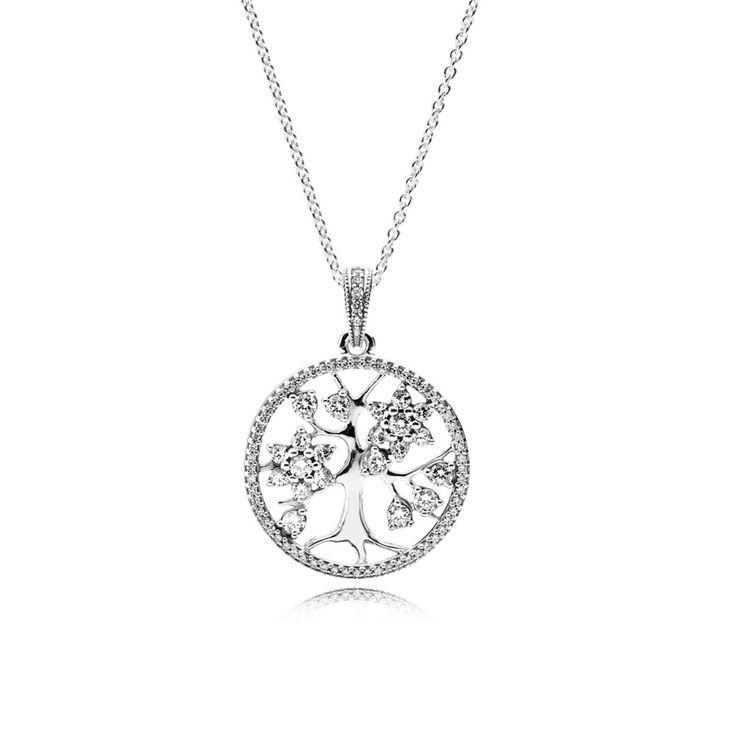 Srebrny naszyjnik z cyrkoniami sześciennymi - Pandora PL  Promocja: 158.98zł  kup teraz: http://www.pandorabiżuteria.com/srebrny-%C5%82a%C5%84cuszek.html