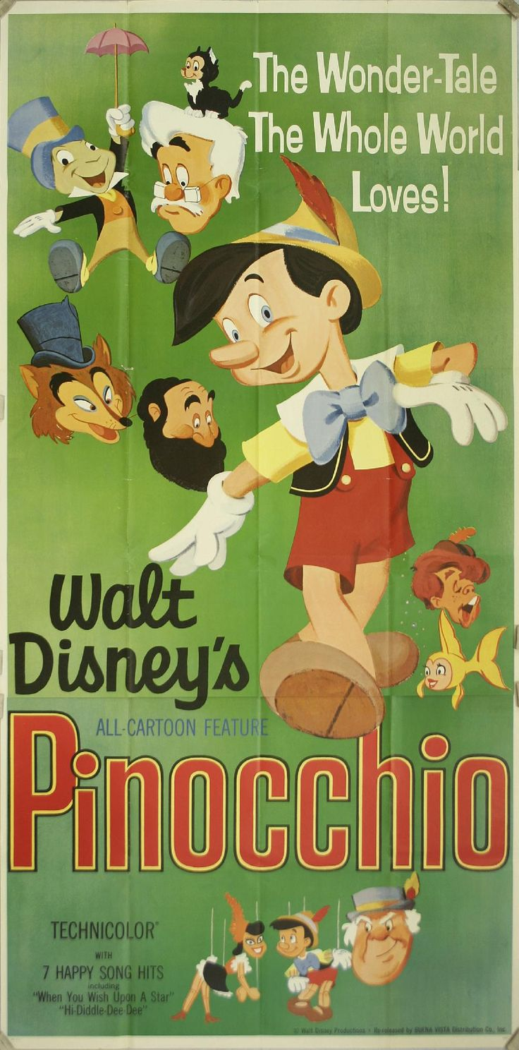 vintage disney | ... Owen Gallery :: Vintage Posters :: Movie :: Pinocchio - Walt Disney